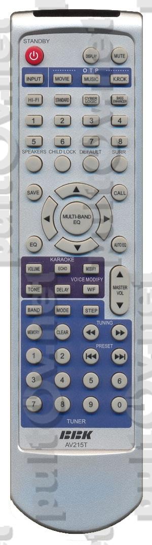 BBK AV215T пульт для